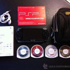 Videojuegos y Consolas: CONSOLA SONY PSP CON 4 JUEGOS, AURICULARES Y BOLSA. Lote 37437866