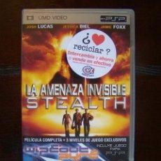 Videojuegos y Consolas: UMD VIDEO PSP - LA AMENAZA INVISIBLE STEALTH - +3 NIVELES DEL JUEGO WIPEOUT PURE (2S). Lote 39736167