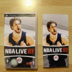 Videojuegos y Consolas: NBA LIVE 07 JUEGO PSP EDICIÓN ESPAÑOLA. Lote 41139739