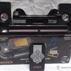 Videojuegos y Consolas: PSP ALTAVOCES CON SOPORTE 3 EN 1 PARA PSP EN CAJA . Lote 50720915