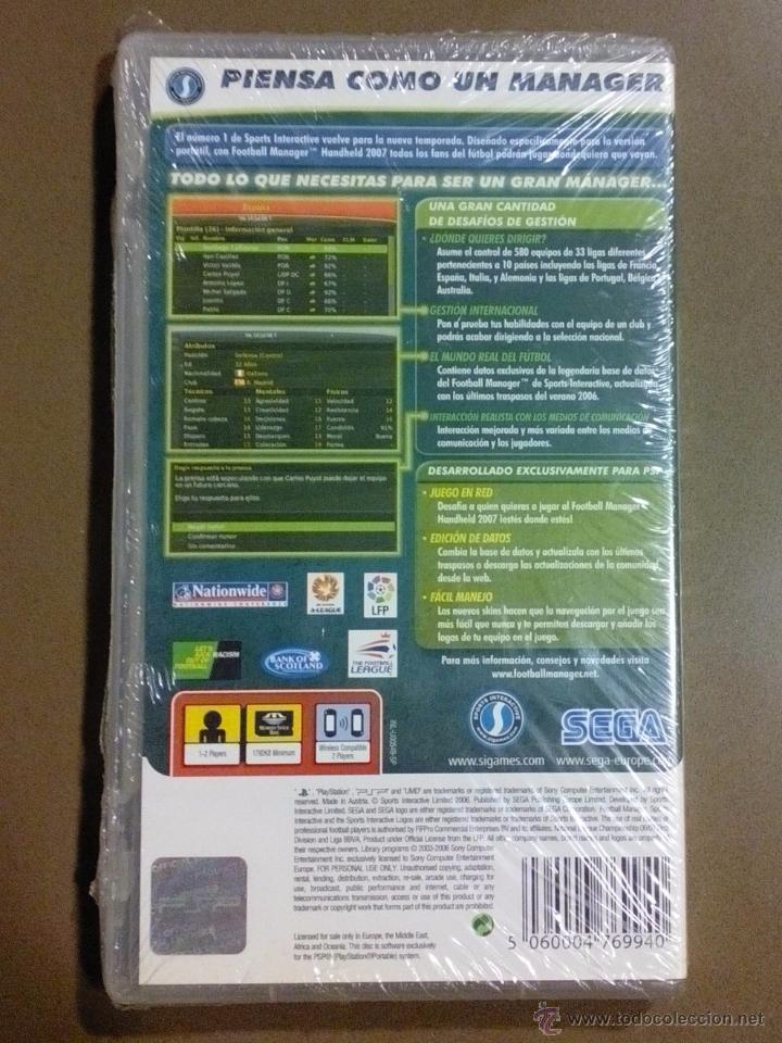 Videojuegos y Consolas: Football Manager Handheld 2007. PSP. Sega. LPF. Nuevo con precinto!!!! - Foto 2 - 51008824
