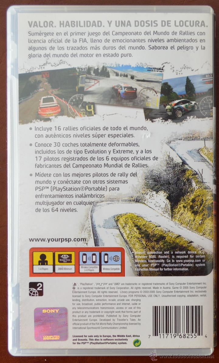 Videojuegos y Consolas: WRC FIA WORLD RALLY CHAMPIONSHIP PARA PSP. SONY UMD - Foto 2 - 51122100