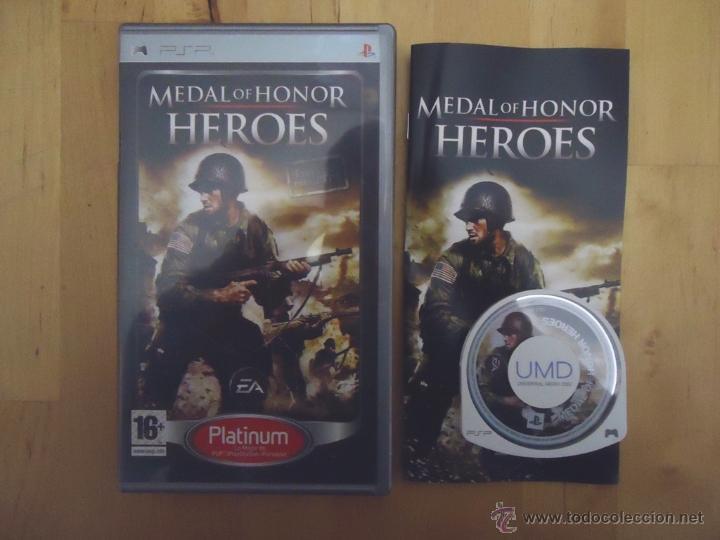 JUEGO SONY PSP PORTABLE MEDAL OF HONOR HEROES PLATINUM ELECTRONIC ARTS EA 2006 SUBJETIVO (Juguetes - Videojuegos y Consolas - Sony - Psp)