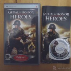Videojuegos y Consolas: JUEGO SONY PSP PORTABLE MEDAL OF HONOR HEROES PLATINUM ELECTRONIC ARTS EA 2006 SUBJETIVO. Lote 54482069