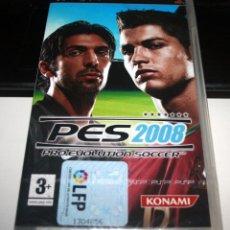 Videojuegos y Consolas: PES 2008 PSP KONAMI FÚTBOL. Lote 54691918