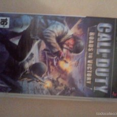 Videojuegos y Consolas: JUEGO PSP CALL OF DUTY ROADS TO VICTORY. Lote 56555963