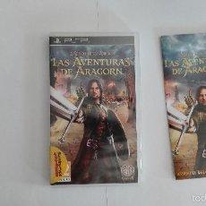 Videojuegos y Consolas: PSP EL SEÑOR DE LOS ANILLOS LAS AVENTURAS DE ARAGORN ESPAÑOL. Lote 58256483
