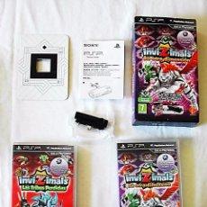 Videojuegos y Consolas: PSP - LOTE 2 JUEGOS INVIZIMALS + CÁMARA + TARJETA. Lote 58706052