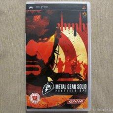 Videojuegos y Consolas: METAL GEAR SOLID: PORTABLE OPS, EN PERFECTO ESTADO PAL ING -PSP-. Lote 59845684