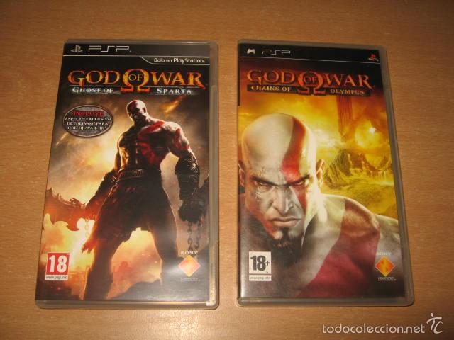 GOD OF WAR Chains of Olympus y GHOST OF SPARTA para PSP PAL ESPAÑA Completos