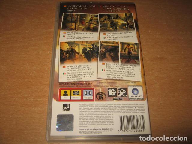 Videojuegos y Consolas: PRINCE OF PERSIA RIVAL SWORDS PSP PAL ESPAÑA COMPLETO - UBISOFT - Foto 2 - 61891652