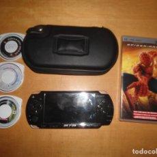 Videojuegos y Consolas: LOTE PSP + CARGADOR + 3 JUEGOS + 1 PELICULA SPIDERMAN. Lote 62564992