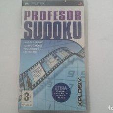 Videojuegos y Consolas: PROFESOR SUDOKU MAS DE 1 MILLON DE SUDOKUS NUEVO SONY PSP PAL ESPAÑA.PRECINTADO. Lote 64703699
