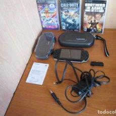 Videojuegos y Consolas: SONY PSP COMPLETA EN BUEN ESTADO Y CON 3 JUEGOS INCLUIDOS. Lote 69501517