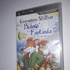 Videojuegos y Consolas: JUEGO PSP GERONIMO STILTON EN EL REINO DE LA FANTASÍA. Lote 260609345