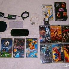 Videojuegos y Consolas: LOTE DE PSP 1004 FAT NEGRA + 8 PELÍCULAS + 3 JUEGOS + GPS + FUNDA Y ESTUCHE + CARGADOR + MEMORY 2GB. Lote 92239575
