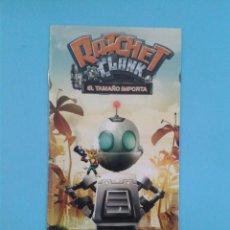 Videojuegos y Consolas: RATCHET & CLANK (INSTRUCCIONES). Lote 93197430