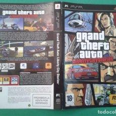 Videojuegos y Consolas: GTA LIBERTY CITY STORIES (CARATULA). Lote 96904327