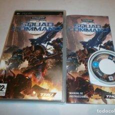 Videojuegos y Consolas: WARHAMMER 40000 SQUAD COMMAND PSP PAL ESPAÑA COMPLETO . Lote 103578663