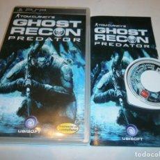 Videojuegos y Consolas: TOM CLANCY'S GHOST RECON PREDATOR PSP PAL ESPAÑA COMPLETO . Lote 103578815