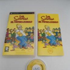 Videojuegos y Consolas: LOS SIMPSON EL VIDEOJUEGO - SONY PSP - PLAYSTATION - COMPLETO CON INSTRUCCIONES - EXCELENTE ESTADO. Lote 109480551