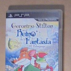 Videojuegos y Consolas: GERONIMO STILTON EN EL REINO DE LA FANTASIA - JUEGO - PSP. Lote 111738855