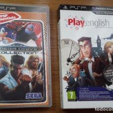Videojuegos y Consolas: DOS JUEGOS SONY PSP - SEGA MEGADRIVE COLLECTION Y PLAY ENGLISH EDICIÓN COLECCIONISTA. Lote 114251755
