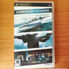 Videojuegos y Consolas: CORRUPCION EN MIAMI EL VIDEOJUEGO, JUEGO PLAYSTATION PSP. SIERRA. Lote 114610271