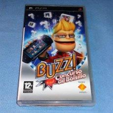 Videojuegos y Consolas: JUEGO PSP BUZZ SONY CONCURSO DE BOLSILLO. Lote 120485107