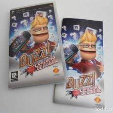 Videojuegos y Consolas: BUZZ CONCURSO DE BOLSILLO - SONY PSP - PLAYSTATION - COMPLETO CON INSTRUCCIONES - EXCELENTE ESTADO. Lote 120493651