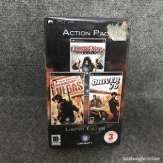 Videojuegos y Consolas: ACTION PACK PRINCE OF PERSIA REVELATIONS + RAINBOW SIX VEGAS + DRIVER 79 NUEVO SONY PSP. Lote 124690416