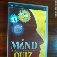 Videojuegos y Consolas: MIND QUIZ - EXERCISE YOUR BRAIN - SONY PSP - UMD - SEGA. Lote 103583431