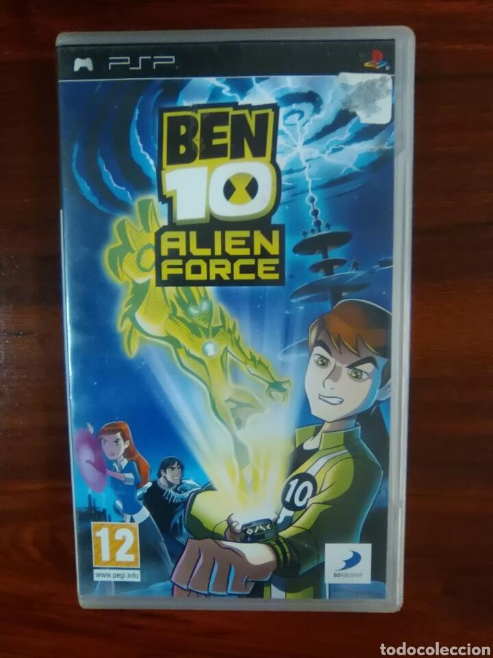 BEN 10 ALIEN FORCE - SONY PSP - UMD - COMPLETO - BUEN ESTADO (Juguetes - Videojuegos y Consolas - Sony - Psp)