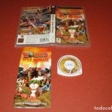 Videojuegos y Consolas: WORMS OPEN WARFARE - PSP - ULES 00268 - THQ - ¡ SE HA ABIERTO LA TEMPORADA DE CAZA DE GUSANOS ... !. Lote 126186519