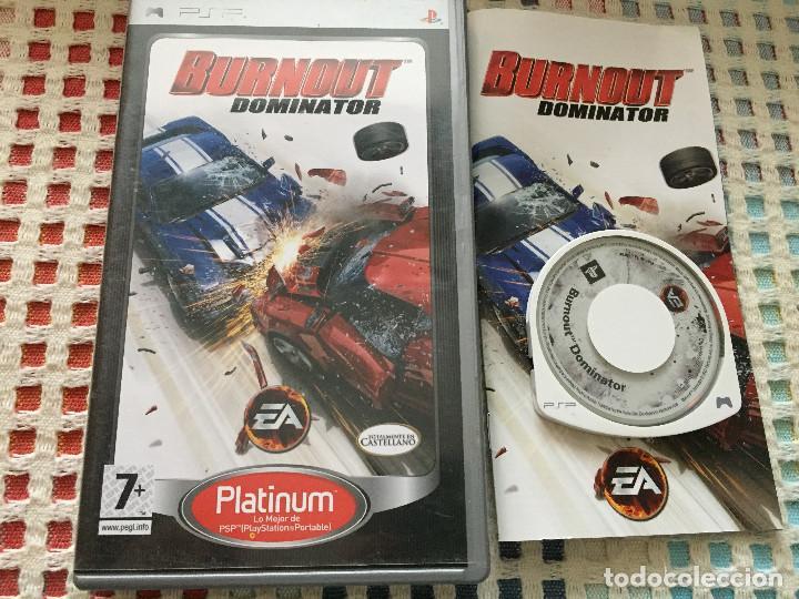BURNOUT DOMINATOR BURN OUT platinum - SONY PSP UMD juego KREATEN