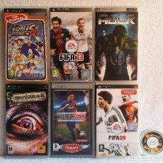 Videojuegos y Consolas: 6 JUEGOS PSP Y PELICULA EL INCREIBLE HULK. Lote 128371947