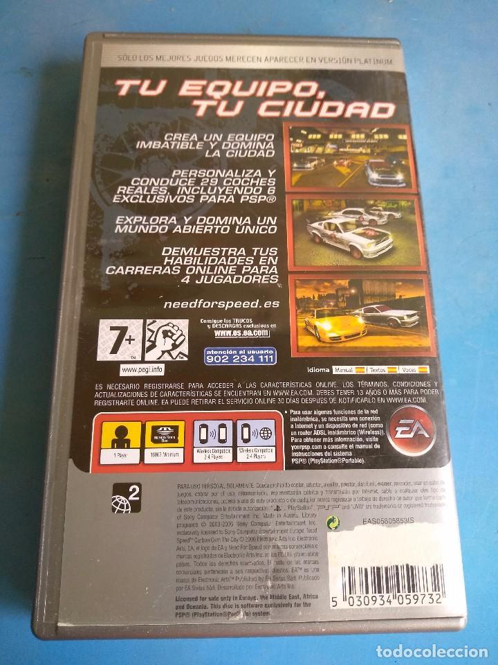 Videojuegos y Consolas: PSP- Need foro speed carbono año 2006 - Foto 4 - 132486390