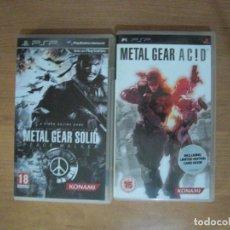 Videojuegos y Consolas: METAL GEAR SOLID PEACE - METAL GEAR ACID - PSP. Lote 133533234