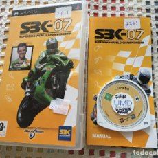 Videojogos e Consolas: SBK 07 SUPERBIKE WORLD CHAMPIONSHIP FONSI NIETO PSP PLAYSTATION PORTABLE KREATEN. Lote 137837058