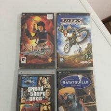 Videojuegos y Consolas: LOTE 4 CAJAS VACÍAS PSP. Lote 142942313