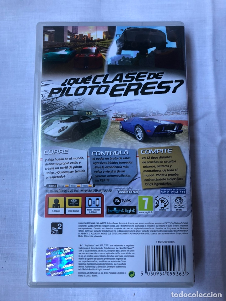Videojuegos y Consolas: juego psp need for speed shift - Foto 2 - 146317672