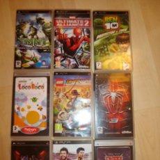Videojuegos y Consolas: 9 CAJAS DE PSP VACIAS , SIN FOLLETOS . Lote 147679710