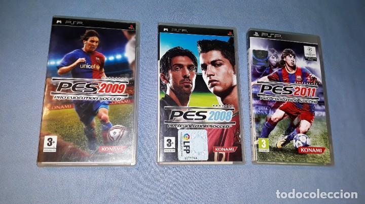 3 JUEGOS PSP PLAYSTATION PRO EVOLUTION SOCCER 2008 2009 2011 VER FOTOS Y DESCRIPCION (Juguetes - Videojuegos y Consolas - Sony - Psp)