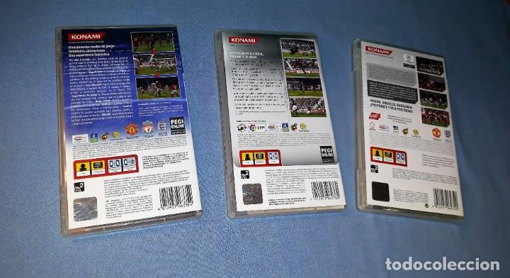 Videojuegos y Consolas: 3 JUEGOS PSP PLAYSTATION PRO EVOLUTION SOCCER 2008 2009 2011 VER FOTOS Y DESCRIPCION - Foto 2 - 149487214