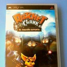 Videojuegos y Consolas: RATCHET & CLANK EL TAMAÑO IMPORTA - JUEGO PLAYSTATION PSP (PAL) (BUEN ESTADO) PLATAFORMAS. Lote 149724490