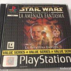 Videojuegos y Consolas: PLAYSTATION JUEGO STAR WARS EPISODIO I LA AMENAZA FANTASMA. Lote 151078902