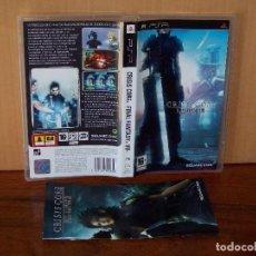Videojuegos y Consolas: FINAL FANTASY VII - CRISIS CORE - JUEGO PSP CON MANUAL DE INSTRUCCIONES . Lote 154999950