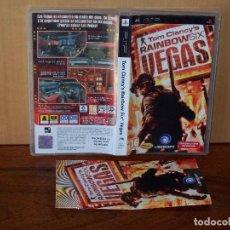 Jeux Vidéo et Consoles: TOM CLANCY´S RAINBOW SIX VEGAS - JUEGO PSP CON MANUAL DE INSTRUCCIONES . Lote 155299290