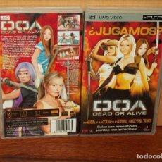 Videojuegos y Consolas: DOA DEAD OR ALIVE - JAIME PRESSLY - HOLLY VALANCE - UMD VIDEO CONSOLA PSP. Lote 295635633