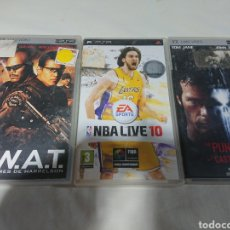 Videojuegos y Consolas: LOTE 3 UMD SONY PSP - NBA LIVE 10 + THE PUNISHER + SWAT. Lote 155537918